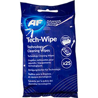 AF MOBILE TECHNOLOGY CLEANING WIPES PACK 25