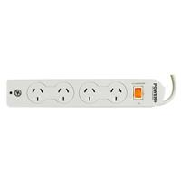 ITALPLAST POWER BOARD 4 OUTLET WITH MASTER SWITCH WHITE