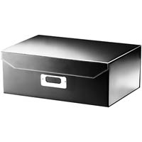 ITALPLAST EAZIFOLD DOCUMENT BOX A4 BLACK