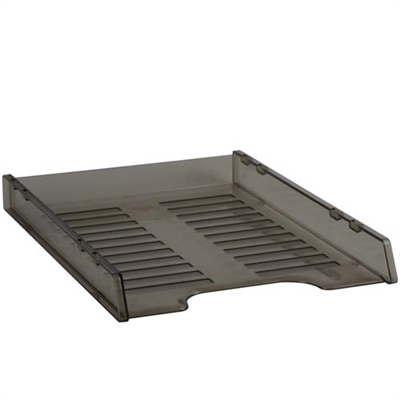 ITALPLAST SLIMLINE MULTI FIT DOCUMENT TRAY A4 SMOKE