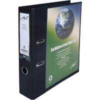 CUMBERLAND EARTHCARE INSERT LEVER ARCH FILE A4 65MM BLACK