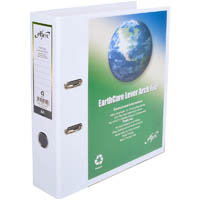 CUMBERLAND EARTHCARE INSERT LEVER ARCH FILE A4 65MM WHITE