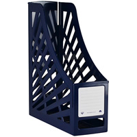 ITALPLAST MAGAZINE STAND ANTIQUE BLUE