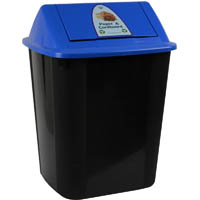 ITALPLAST WASTE SEPARATION BIN WITH SWING TOP LID 32 LITRE PAPER AND CARDBOARD