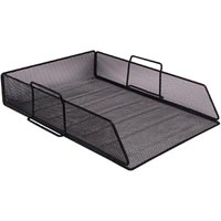 ITALPLAST WIRE MESH DOCUMENT TRAY BLACK