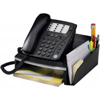 ITALPLAST WORKSPACE TELEPHONE STAND BLACK/SILVER