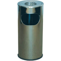 ITALPLAST I 452 STAINLESS STEEL FLOOR ASHTRAY/RUBBISH TIDY