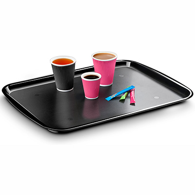 Image for ITALPLAST SERVING TRAY 415 X 305MM BLACK from Wetherill Park / Smithfield Office National