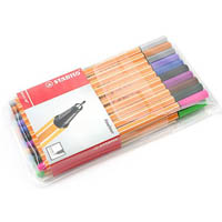 STABILO 88 POINT FINELINER PEN 0.4MM ASSORTED PACK 20