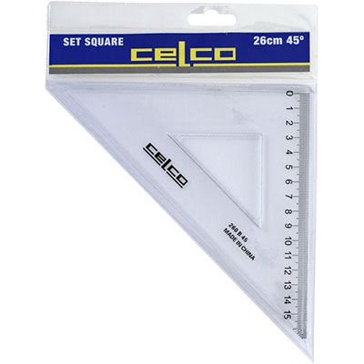 Image for CELCO SET SQUARE 45 DEGREES 260MM from Our Town & Country Office National