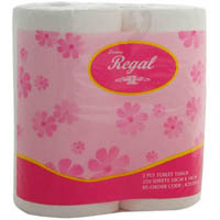 REGAL TOILET PAPER ROLL 2 PLY 250 SHEETS PACK 4
