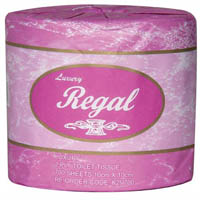 REGAL TOILET PAPER ROLL 2 PLY RECYCLED 700 SHEETS CARTON 48