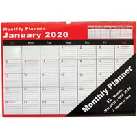 CUMBERLAND 2020 MONTHLY PLANNER 530 X 390MM