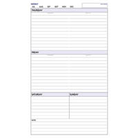DAYPLANNER PERSONAL EDITION WEEKLY NON-DATED REFILL 6 RING 120 X 81MM 60 PAGES