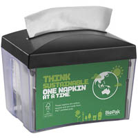 BIOPAK BIODISPENSER SINGLE SAVER NAPKIN DISPENSER BLACK