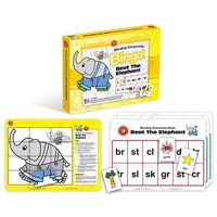 BEAT THE ELEPHANT BINGO BLENDING CONSONANTS GAME