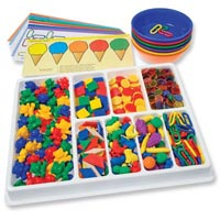 EDUCATIONAL COLOURS COUNTING AND SORTING KIT 650 PIECES