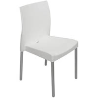 LEO POLY CHAIR WITH ALUMINIUM LEGS WHITE