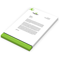 CUSTOM LH90-500 PRINT LETTERHEAD 90GSM (210 X 297MM) FULL COLOUR PRINT ONE SIDE