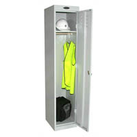 STEELCO PERSONNEL LOCKER 1 DOOR 380MM SILVER GREY