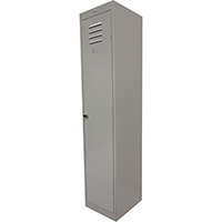 STEELCO PERSONNEL LOCKER 1 DOOR LATCHLOCK 380MM SILVER GREY
