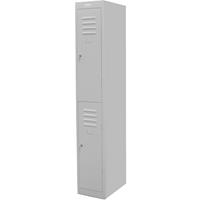 STEELCO PERSONNEL LOCKER 2 DOOR 305MM SILVER GREY