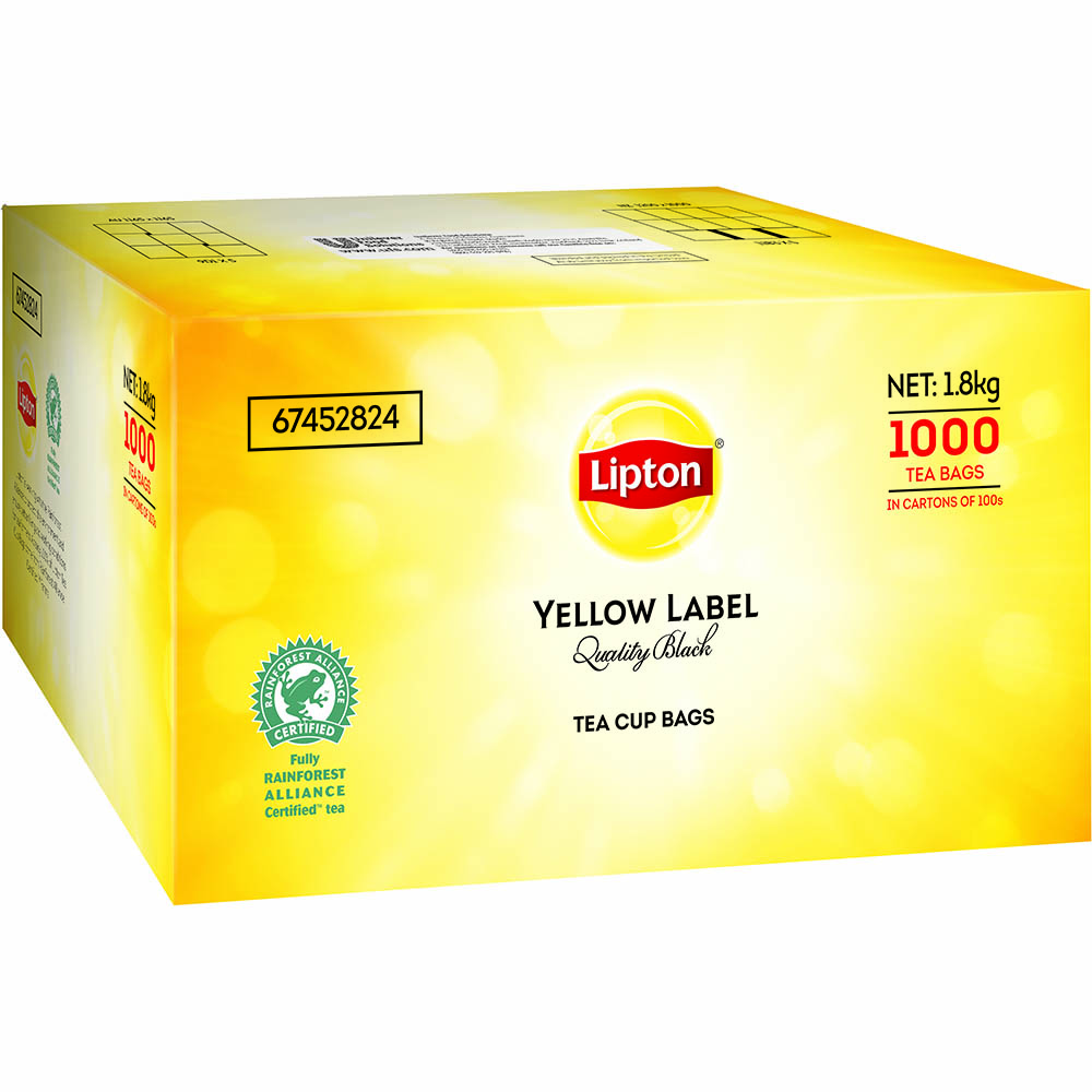 Image for LIPTON TEABAGS WITH TAG AND STRING BOX 1000 from Our Town & Country Office National