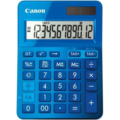 Image for CANON LS-123M CALCULATOR 12 DIGIT DUAL POWER METALLIC BLUE from Our Town & Country Office National