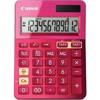 CANON LS-123M CALCULATOR 12 DIGIT DUAL POWER METALLIC PINK