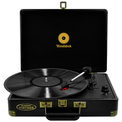 Image for MBEAT WOODSTOCK RETRO TURNTABLE PLAYER BLACK from Our Town & Country Office National