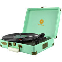 MBEAT WOODSTOCK RETRO TURNTABLE PLAYER TIFFANY BLUE