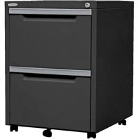 STEELCO MOBILE PEDESTAL 2 FILE 630 X 470 X 515MM GRAPHITE RIPPLE