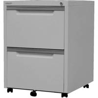 STEELCO MOBILE PEDESTAL 2 FILE 630 X 470 X 515MM SILVER GREY