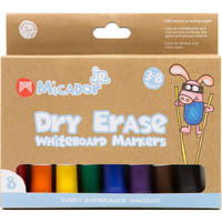 MICADOR JR DRY ERASE WHITEBOARD MARKERS ASSORTED PACK 8