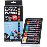 MICADOR COLOURFUN OIL PASTELS LARGE ASSORTED PACK 12