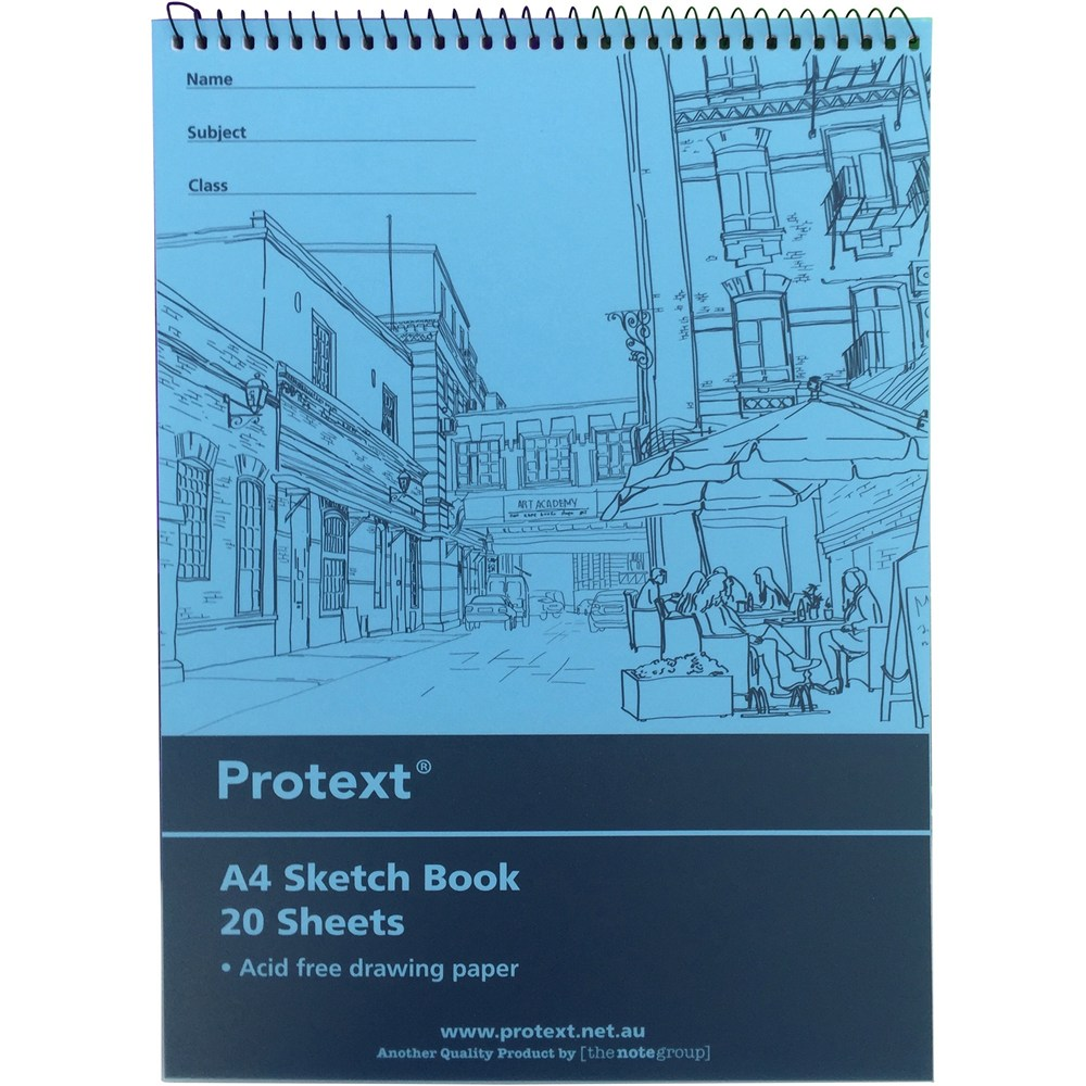 Image for PROTEXT SKETCH BOOK PP 20 PAGE 100GSM A4 ASSORTED from Wetherill Park / Smithfield Office National
