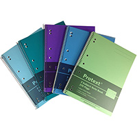 PROTEXT 3-SUBJECT BINDER NOTE BOOK 60GSM 270 PAGE 295 X 223MM ASSORTED