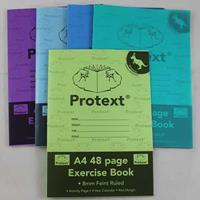 PROTEXT EXERCISE BOOK RULED 8MM 70GSM 48 PAGE A4 KANGAROO ASSORTED