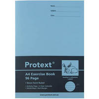 PROTEXT EXERCISE BOOK RULED 8MM 70GSM 96 PAGE A4 RABBIT ASSORTED