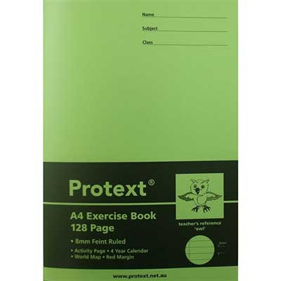 Image for PROTEXT EXERCISE BOOK RULED 8MM 70GSM 128 PAGE A4 OWL ASSORTED from Wetherill Park / Smithfield Office National