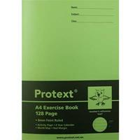 PROTEXT EXERCISE BOOK RULED 8MM 70GSM 128 PAGE A4 OWL ASSORTED