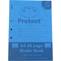 PROTEXT BINDER BOOK RULED 8MM 70GSM 48 PAGE A4 KOALA ASSORTED