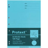PROTEXT BINDER BOOK RULED 8MM 70GSM 128 PAGE A4 ELEPHANT ASSORTED
