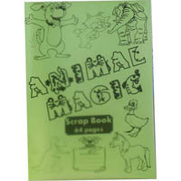 PROTEXT PP SCRAPBOOK 100GSM 64 PAGE 330 X 240MM ANIMAL MAGIC ASSORTED