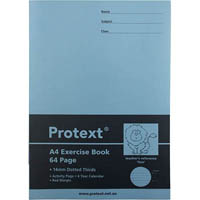 PROTEXT EXERCISE BOOK DOTTED THIRDS 14MM 70GSM 64 PAGE A4 LION ASSORTED