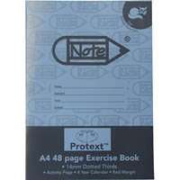 PROTEXT EXERCISE BOOK DOTTED THIRDS 14MM 70GSM 48 PAGE A4 CAT ASSORTED
