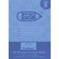 PROTEXT EXERCISE BOOK DOTTED THIRDS 18MM 70GSM 48 PAGE A4 DOG ASSORTED
