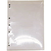 WRITER EXAM PAPER 55GSM 8MM RULED + MARGIN 7 HOLE PUNCH A4 500 SHEETS