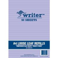 WRITER GRAPH REFILLS 2MM SQUARES 57GSM 50 LEAF A4
