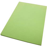 WRITER PREMIUM BOND PAD RULED 2 SIDES 70GSM 50 SHEETS A4 GREEN